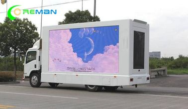 Small Square TV LED Mobile Van Advertising 96X96 By 7000 Cabinet Kinglight Lamp